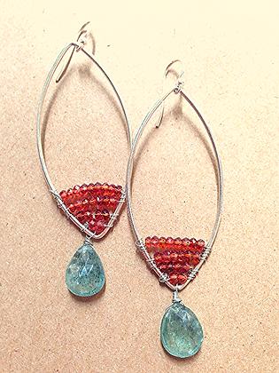#1550  long drop earrings