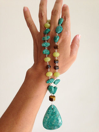 #1536 Russian Amazonite necklace
