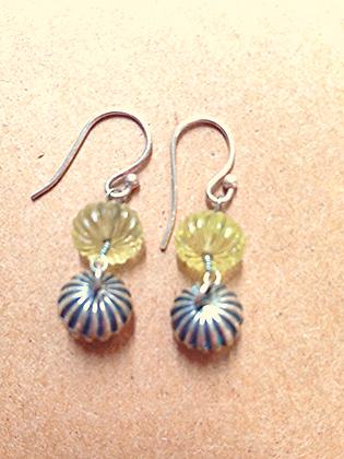 #909  carved earrings