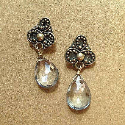 #1545 Bali post earrings