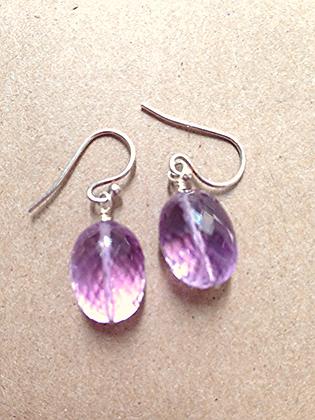#1547  amethyst earrings