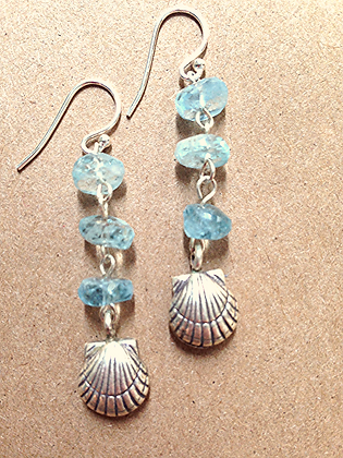#1539 aquamarine earrings