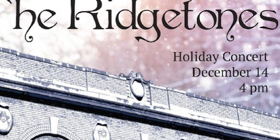 The RidgeTones Holiday Concert