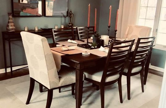 Warm and Inviting dining space.