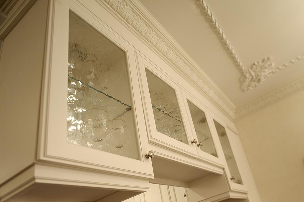 Kitchen Cabinet details and new plaster ceiling details.