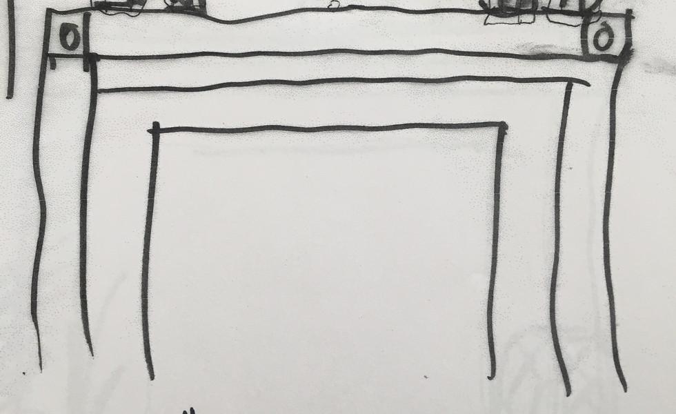 Schematic sketch for MAntel decor