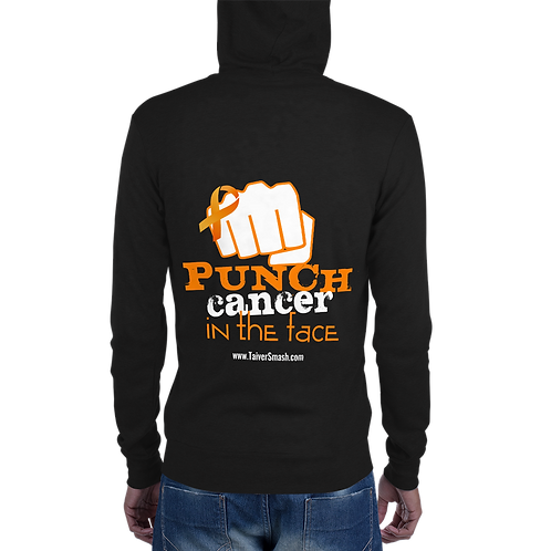 Punch Cancer Front Zip Hoodie