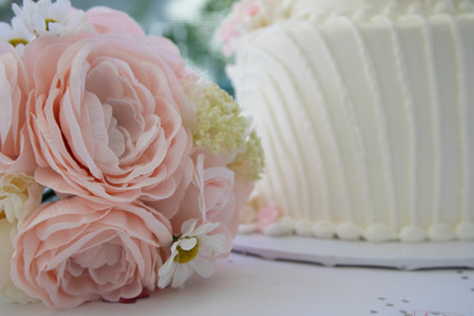 Bouquet and Wedding Cake.jpg