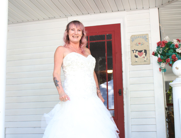 Bride White dress on Stairs.JPG