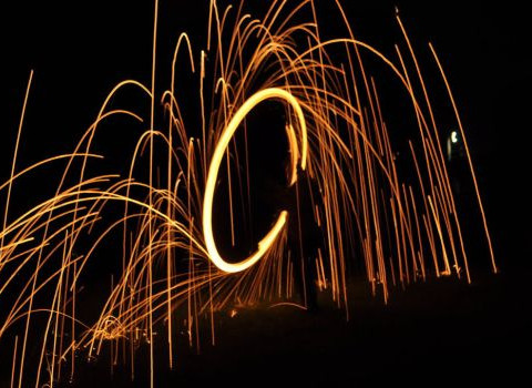 Steel Wool Twirl