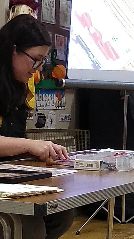 Creating the lino cut