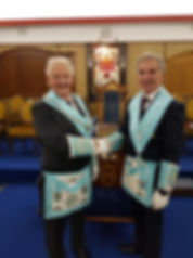 Campbell, left, the incoming Master