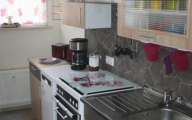 Küche Rosenrot