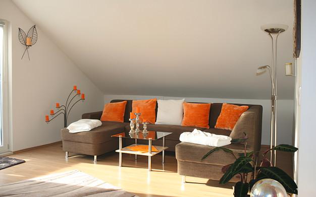Wohnzimmer Rosenrot