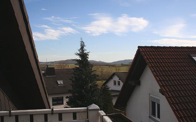 Balkon Rosenrot