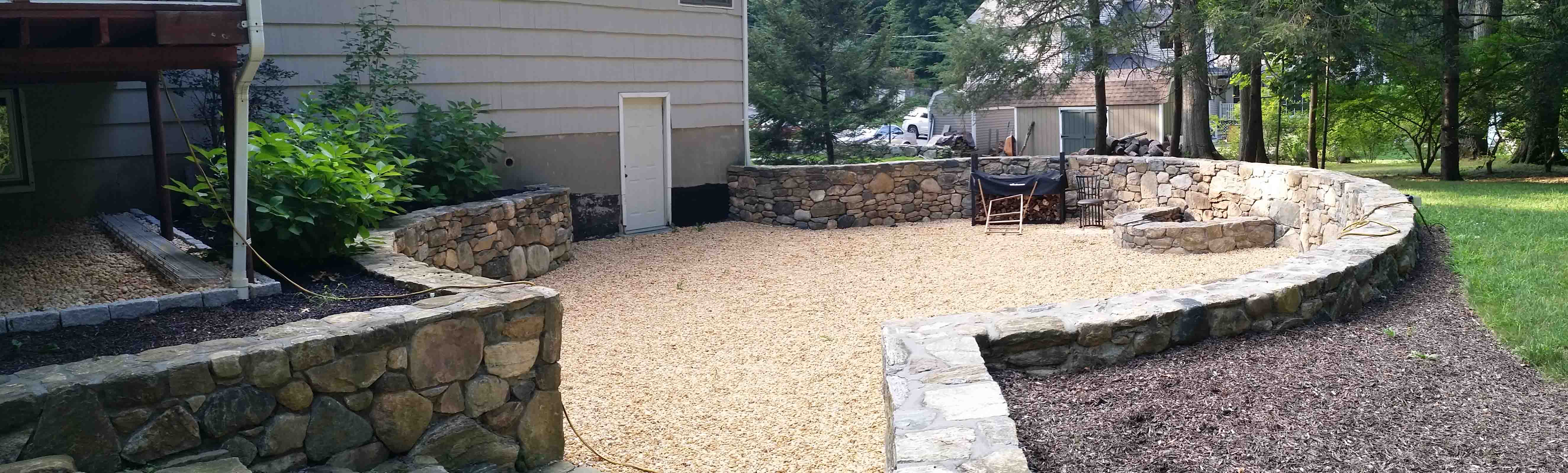 Stone Wall & Fire Pit
