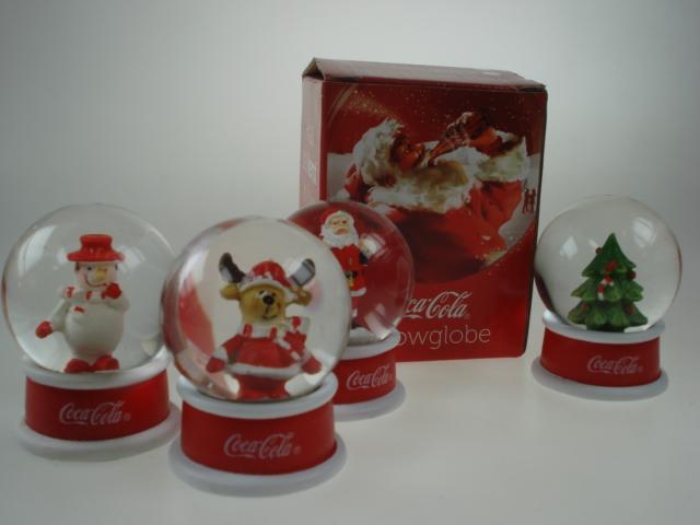 Coca-Cola snow globes 1