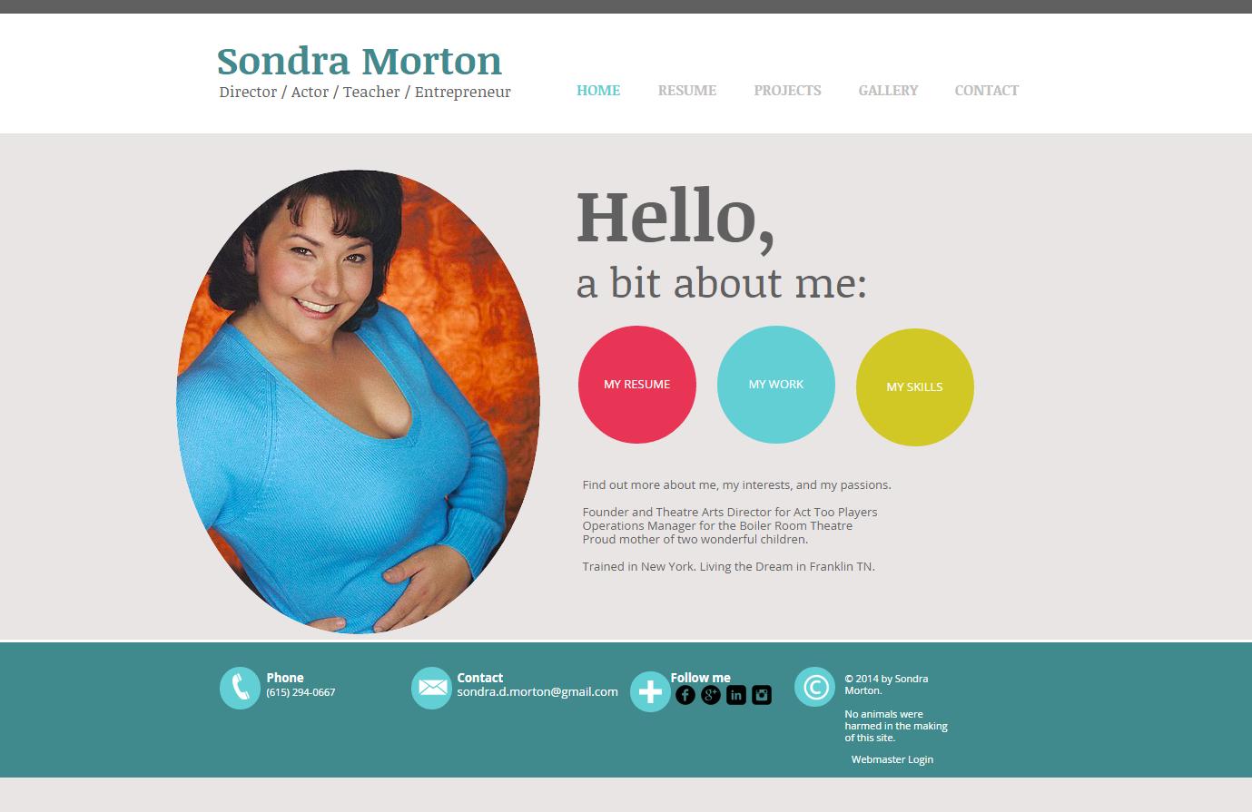 Sondra Morton - Artist Page