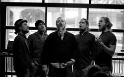 Singing at Castro's pub
