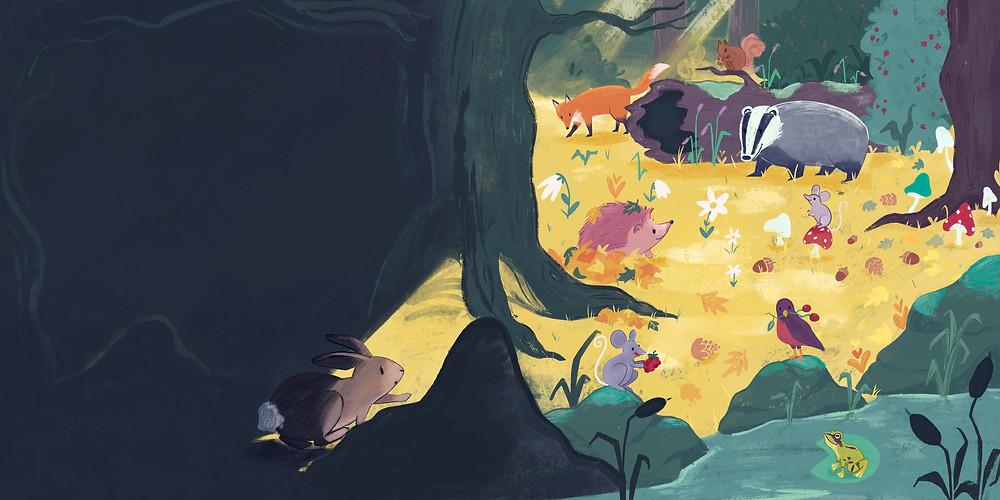Illustration forest animals