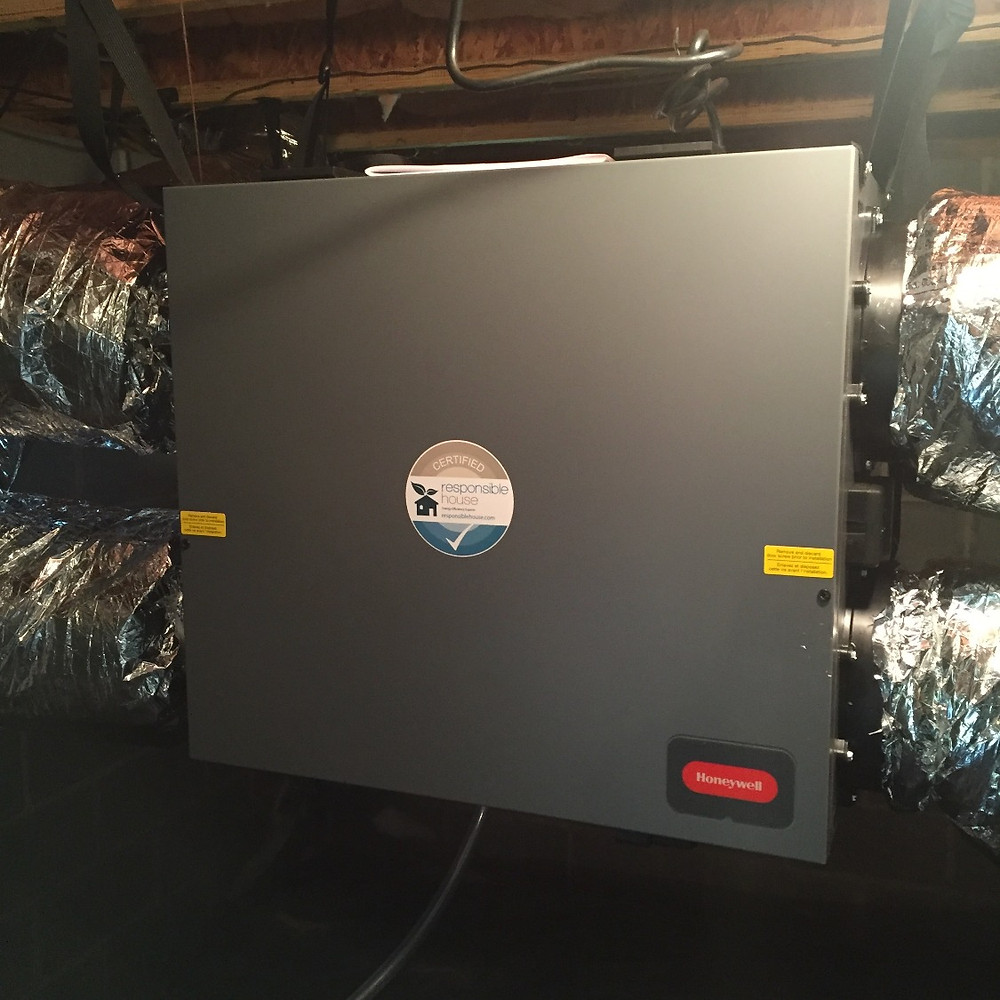 ERV (Energy Recovery Ventilator) installed by Responsible House in 2015