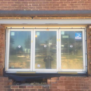 Kitchen Accordion Window | During