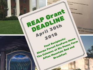 REAP 2018 Deadline April 30th