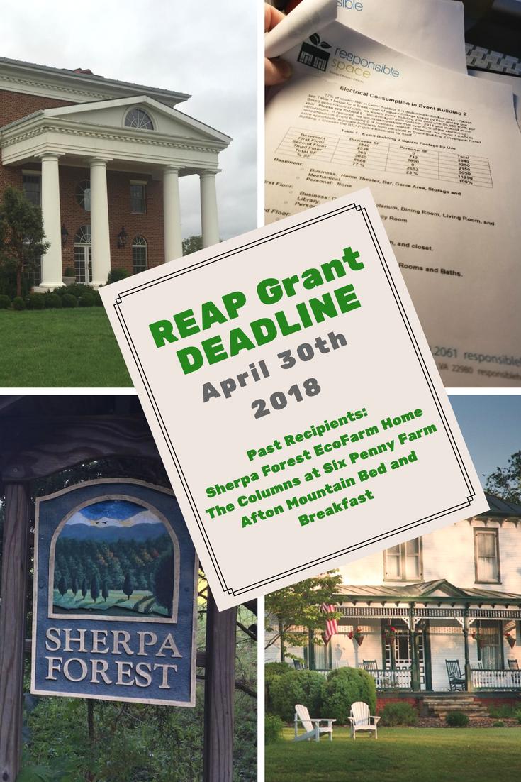 REAP Grant deadline - April 30th 2018