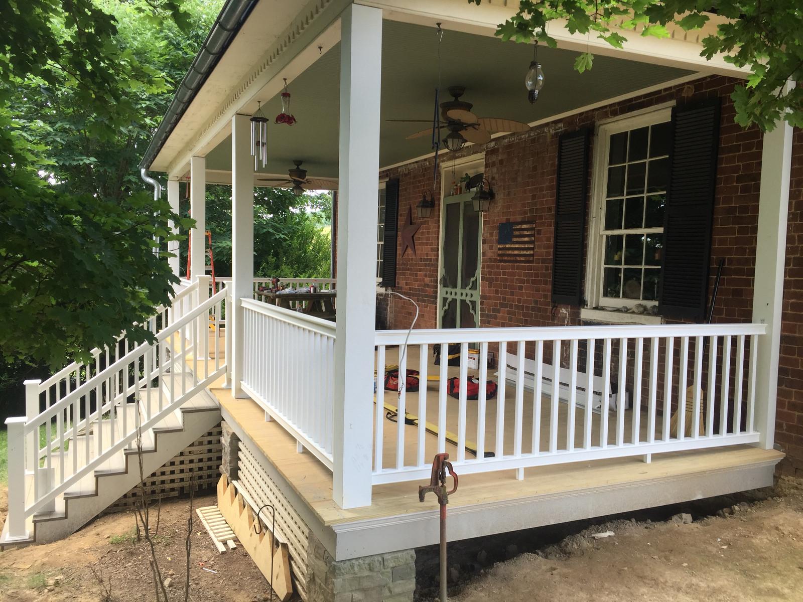 Porch Rebuild After