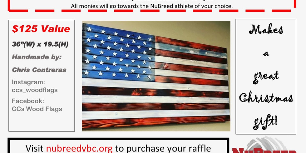 Custom Wooden Flag Raffle - AFTER 5 PM TICKETS