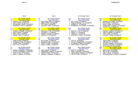 17's Qualifier #2 11/4/20