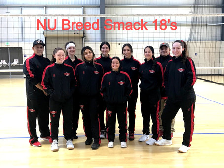 NU Breed Volleyball Featured on Smack Sportswear Platform.  Also game video and photos.