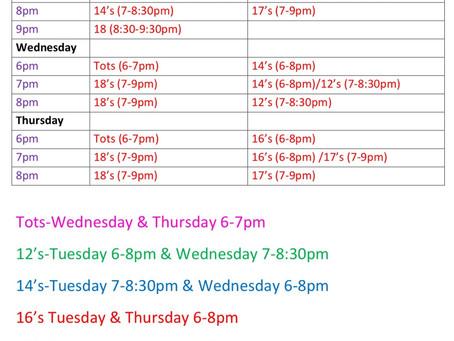 Practice Schedule 4/5/21