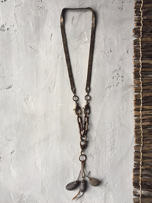 woven fossil necklace