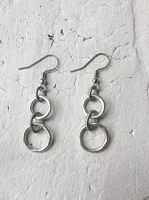 silver ring earrings