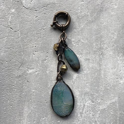 Pale blue pendants