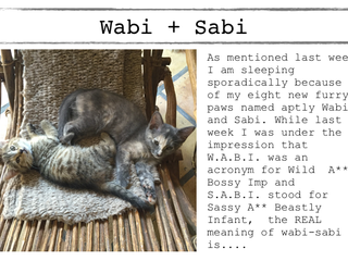 Wabi Sabi- perfectly imperfect