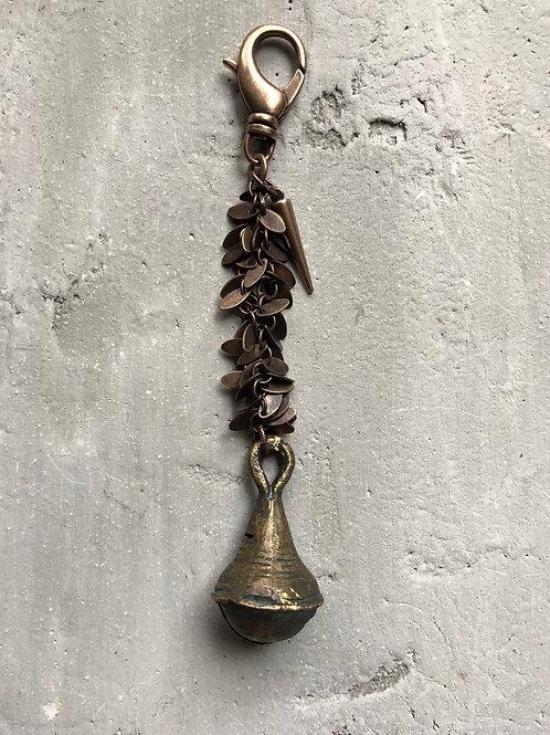 yoruba bell on fringe chain