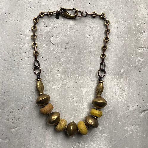 Beads from the Dead Sea and brass