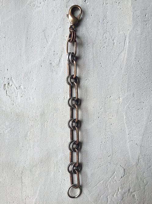 2 tone double ring bracelet