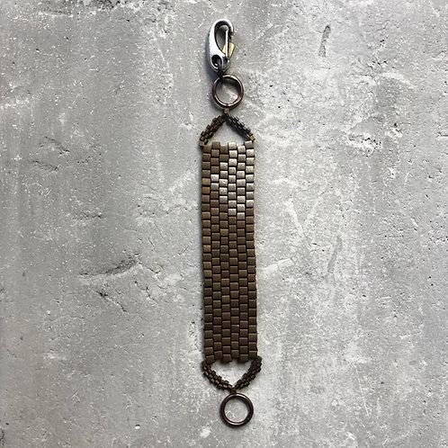 Matte bronze/silver 4mm cubes