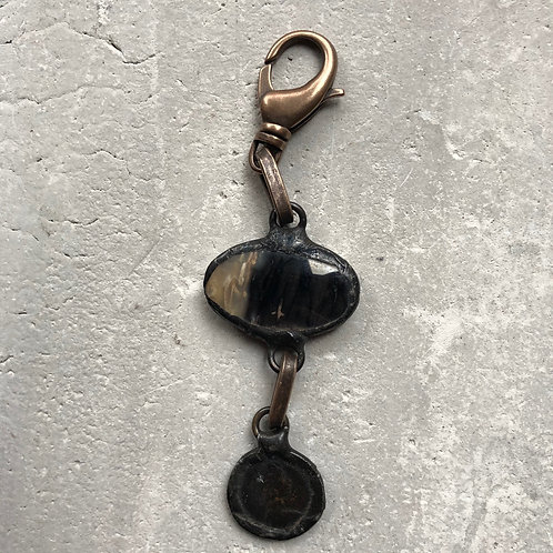 Black and ivory pendant
