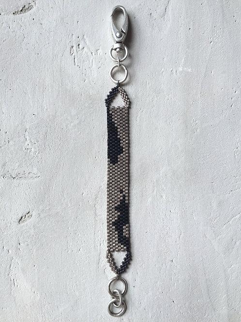 silver + black mixed bracelet