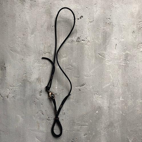 black suede rope lariat