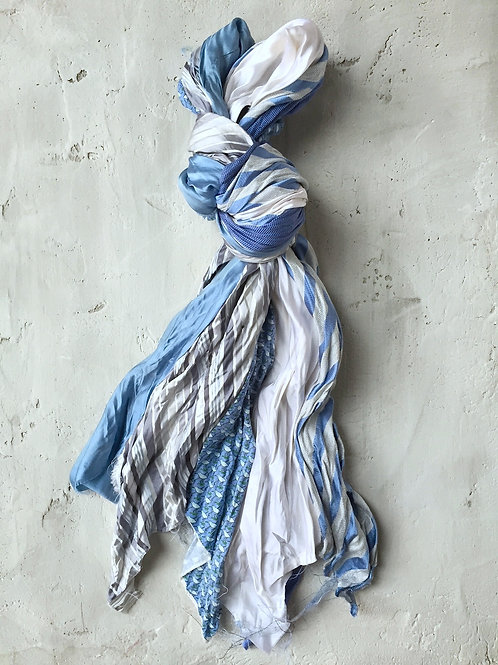 spring long light blue scarf