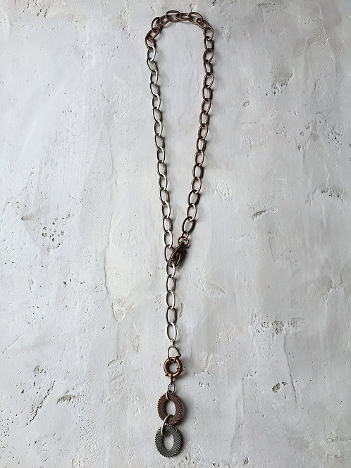 2 tone lariat necklace