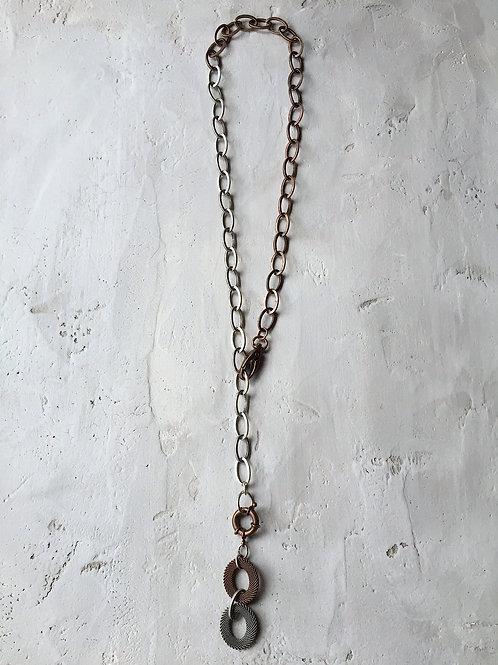 2 tone lariat necklace