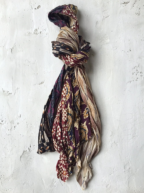 fall short earth tone scarf