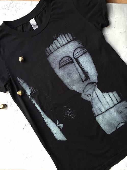 tribal mask black t-shirt