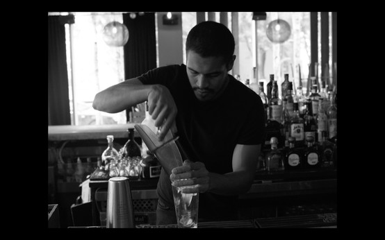 3. Nathan works long hours at a bar in Harlem.